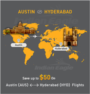 Austin to Hyderabad | Austin to Hyderabad Flights | Indian eagle